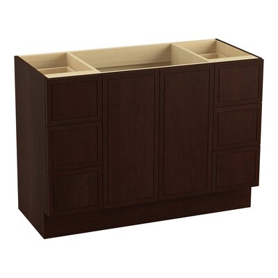 Jacquard� 48 Vanity with Toe Kick, 2 Doors and 6 Drawers, Split Top Drawers Finish: Cherry Tweed