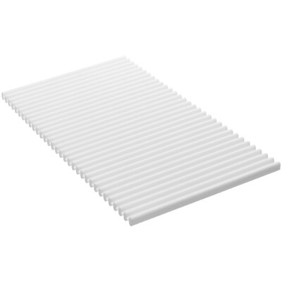 Flexible Kitchen Mat Finish: White