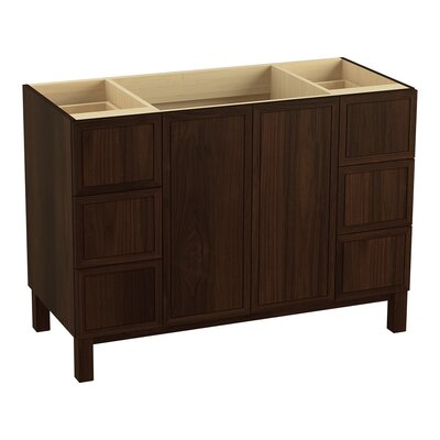 Jacquard� 48 Vanity with Furniture Legs, 2 Doors and 6 Drawers Finish: Ramie Walnut