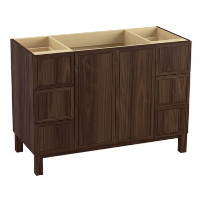 Jacquard� 48 Vanity with Furniture Legs, 2 Doors and 6 Drawers, Split Top Drawers Finish: Terry Walnut