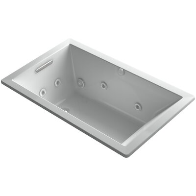 Underscore 60 x 36 Whirlpool Bathtub Finish: Ice Grey