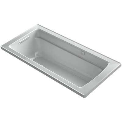 Archer Bubblemassage Air Bath Whirlpool Bath with Reversible Drain Finish: Ice Grey