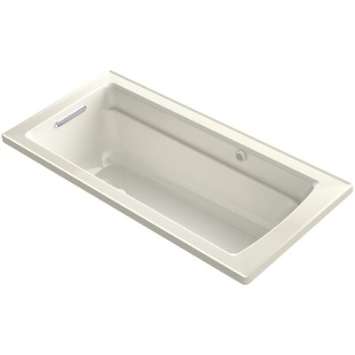 Archer Bubblemassage Air Bath Whirlpool Bath with Reversible Drain Finish: Biscuit