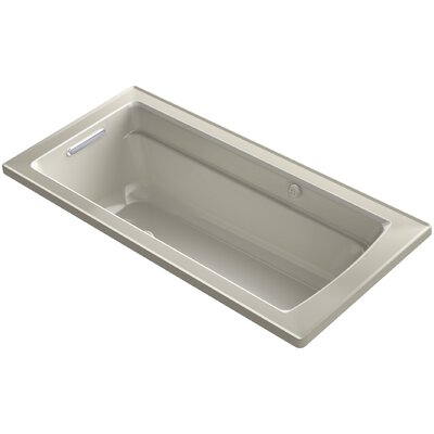 Archer Bubblemassage Air Bath Whirlpool Bath with Reversible Drain Finish: Sandbar