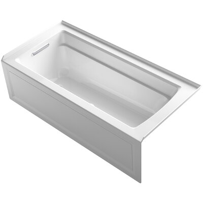 Archer BubbleMassage Whirlpool Bath with Integral Apron and Left-Hand Drain Finish: White
