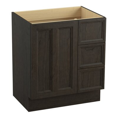 Damask� 30 Vanity with Toe Kick, 1 Door and 3 Drawers on Right Finish: Felt Grey