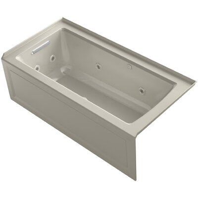 Archer Alcove Whirlpool and BubbleMassage Air Bath with Left-Hand Drain Finish: Sandbar