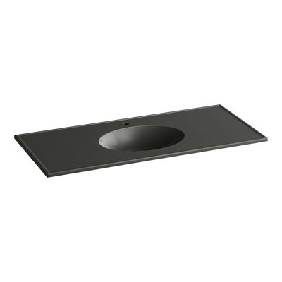 Ceramic Impressions Rectangular Drop-In Bathroom Sink with Overflow Finish: Thunder Grey Impressions