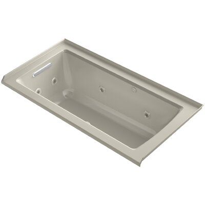 Archer Integral Flange Whirlpool and BubbleMassage� Air Bath with Left-Hand Drain Finish: Sandbar