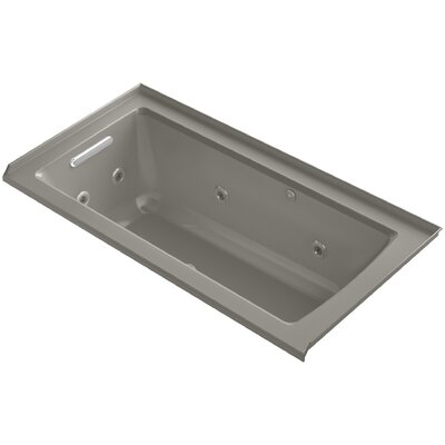 Archer Integral Flange Whirlpool and BubbleMassage� Air Bath with Left-Hand Drain Finish: Cashmere