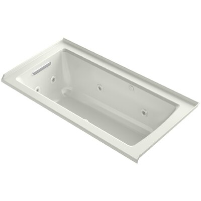 Archer Integral Flange Whirlpool and BubbleMassage Air Bath with Left-Hand Drain Finish: Dune