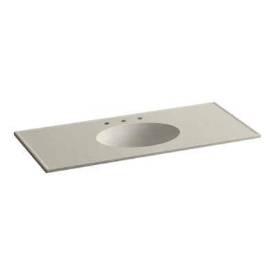 Ceramic Impressions Water Rectangular Drop-In Bathroom Sink with Overflow Finish: Sandbar Impressions