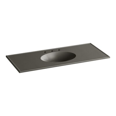 Ceramic Impressions Water Rectangular Drop-In Bathroom Sink with Overflow Finish: Cashmere Impressions