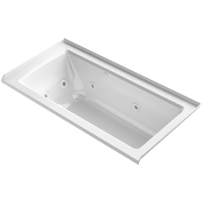 Archer Integral Flange Whirlpool and BubbleMassage� Air Bath with Right-Hand Drain Finish: White