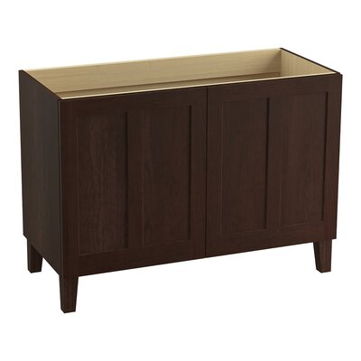 "Poplin 48"" Vanity Base with Furniture Legs and 2 Doors Finish: Cherry Tweed"