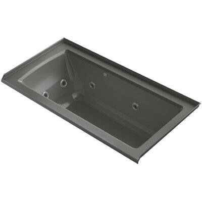 Archer Integral Flange Whirlpool and BubbleMassage� Air Bath with Right-Hand Drain Finish: Thunder Grey