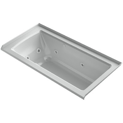 Archer Integral Flange Whirlpool and BubbleMassage� Air Bath with Right-Hand Drain Finish: Ice Grey