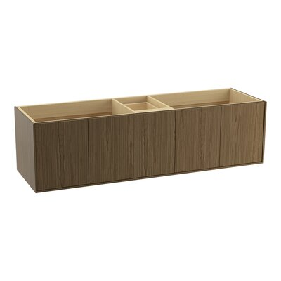 Jute� 72 Vanity with 4 Doors and 1 Drawer Finish: Walnut Flax