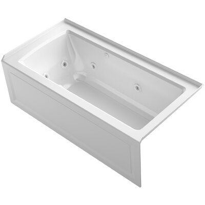 Archer Alcove Whirlpool and Bubblemassage Air Bath with Right-Hand Drain Finish: White