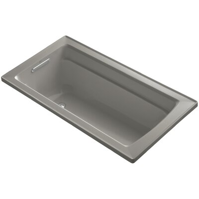 Archer Drop-In Bath with Reversible Drain Finish: Cashmere