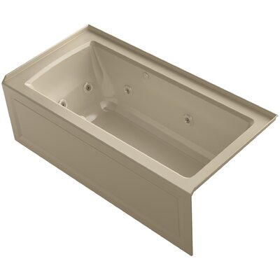 Archer Alcove Whirlpool and Bubblemassage� Air Bath with Right-Hand Drain Finish: Mexican Sand