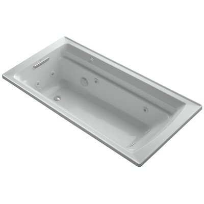 Archer 72 x 36 Whirpool Bathtub Finish: Ice Grey