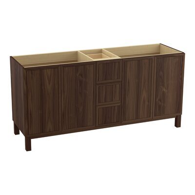 Jacquard 72 Vanity with Furniture Legs, 4 Doors and 3 Drawers Finish: Terry Walnut