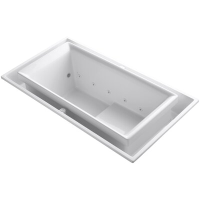 Sok Drop-In Effervescence Bath with Chromatherapy and Right-Hand Drain Finish: White