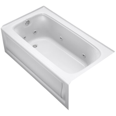Bancroft Alcove 60 x 32 Whirpool Bathtub Finish: White