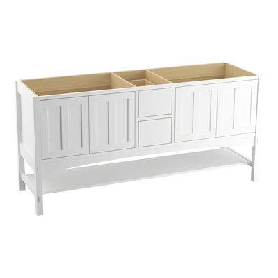 Marabou 72 Vanity with 4 Doors and 2 Drawers, Split Top Drawer Finish: Linen White
