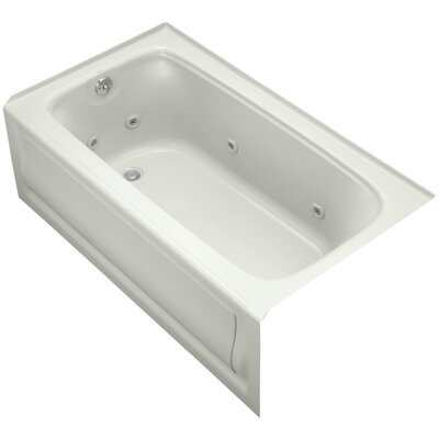 Bancroft Alcove Whirlpool Bath with Tile Flange, Left-Hand Drain and Bask Heated Surface Finish: Dune