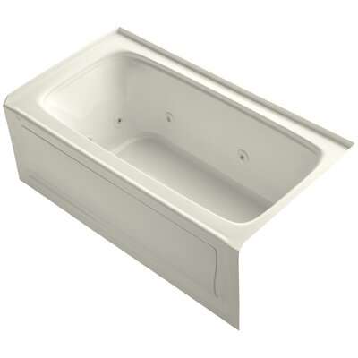 Bancroft Alcove Whirlpool Bath with Tile Flange, Right-Hand Drain and Bask Heated Surface Finish: Biscuit
