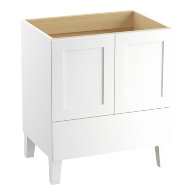 Poplin� 30 Vanity with Furniture Legs, 2 Doors and 1 Drawer Finish: Linen White