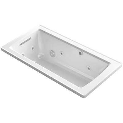 Archer Drop-in Whirlpool and BubbleMassage Air Bath Finish: White