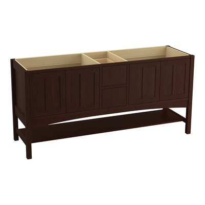 Marabou� 72 Vanity with 4 Doors and 2 Drawers, Split Top Drawer Finish: Cherry Tweed