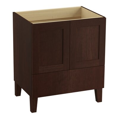 Poplin 30 Vanity with Furniture Legs, 2 Doors and 1 Drawer Finish: Cherry Tweed