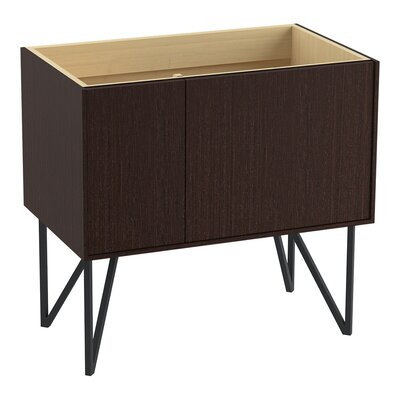 Jute 36 Vanity Base with 1 Door and 1 Drawer on Left Finish: Laurentii Silk