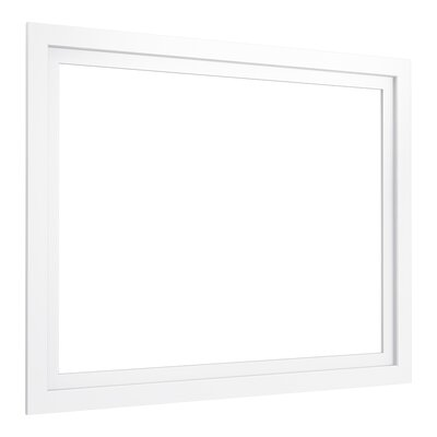 Poplin�/Marabou� Medicine Cabinet Surround, 40 Wide Finish: Linen White