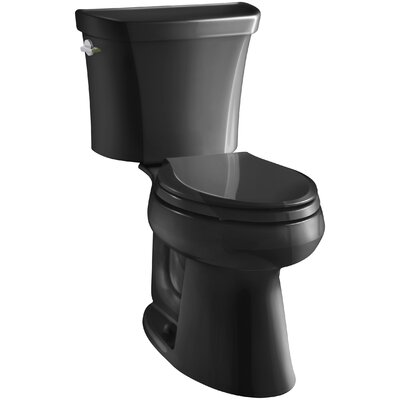 Highline Comfort Height Dual Flush Elongated Two-Piece Toilet Finish: Black Black