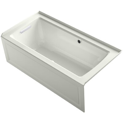 Archer Alcove Bubblemassage Air Bath with Integral Apron, Left-Hand Drain and Bask� Heated Surface Finish: Dune