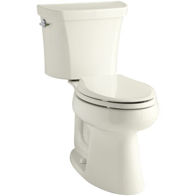 Highline Comfort Height� Dual Flush Elongated Two-Piece Toilet Finish: Biscuit, Lever Location: Left-Hand