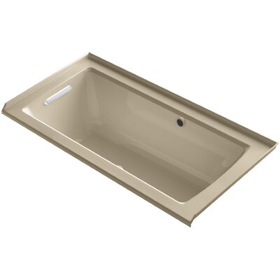 Archer Alcove BubbleMassage� Air Bath with Tile Flange, Left-Hand Drain and Bask� Heated Surface Finish: Mexican Sand