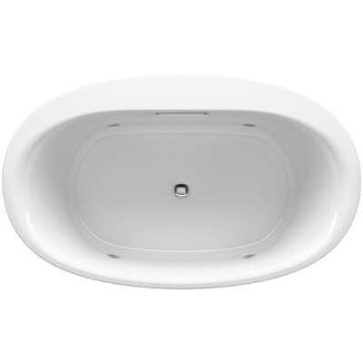 Underscore Oval Drop-in VibrAcoustic� Bath with Chromatherapy Finish: White