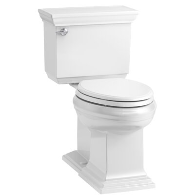 Memoirs Stately Comfort Height 2-Piece Elongated 1.28 GPF Toilet with Aquapiston Flush Technology and Left-Hand Trip Lever, Concealed Trapway Finish: White