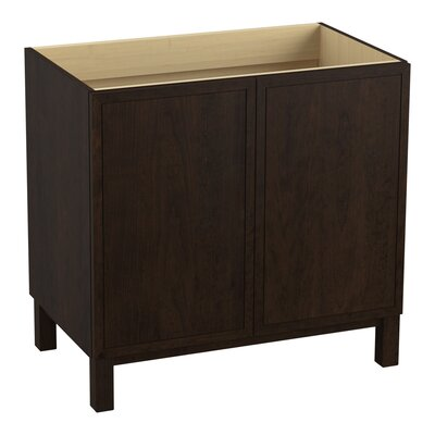 Jacquard� 36 Vanity with Furniture Legs and 2 Doors Finish: Claret Suede