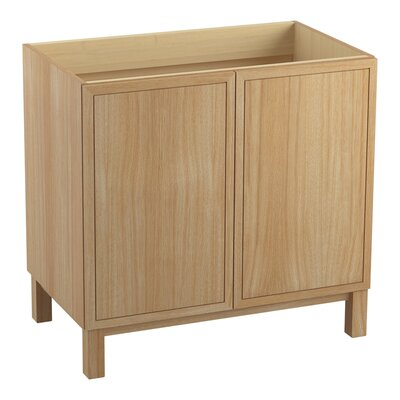 Jacquard� 36 Vanity with Furniture Legs and 2 Doors Finish: Khaki White Oak