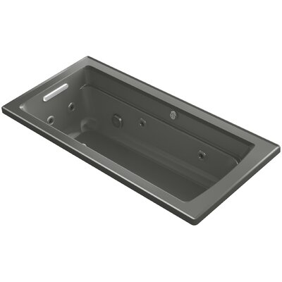 Archer Drop-in Whirlpool and BubbleMassage Air Bath Finish: Thunder Grey