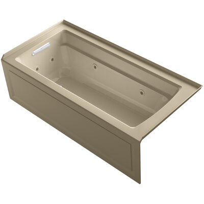 Archer Integral Apron Whirlpool with Tile Flange and Left-Hand Drain Finish: Mexican Sand