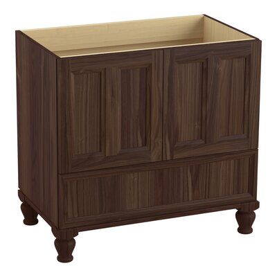 Damask Plains 36 Vanity with Furniture Legs, 2 Doors and 1 Drawer Finish: Terry Walnut