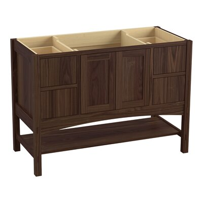 Marabou 48 Vanity with 2 Doors and 4 Drawers, Split Top Drawers Finish: Terry Walnut